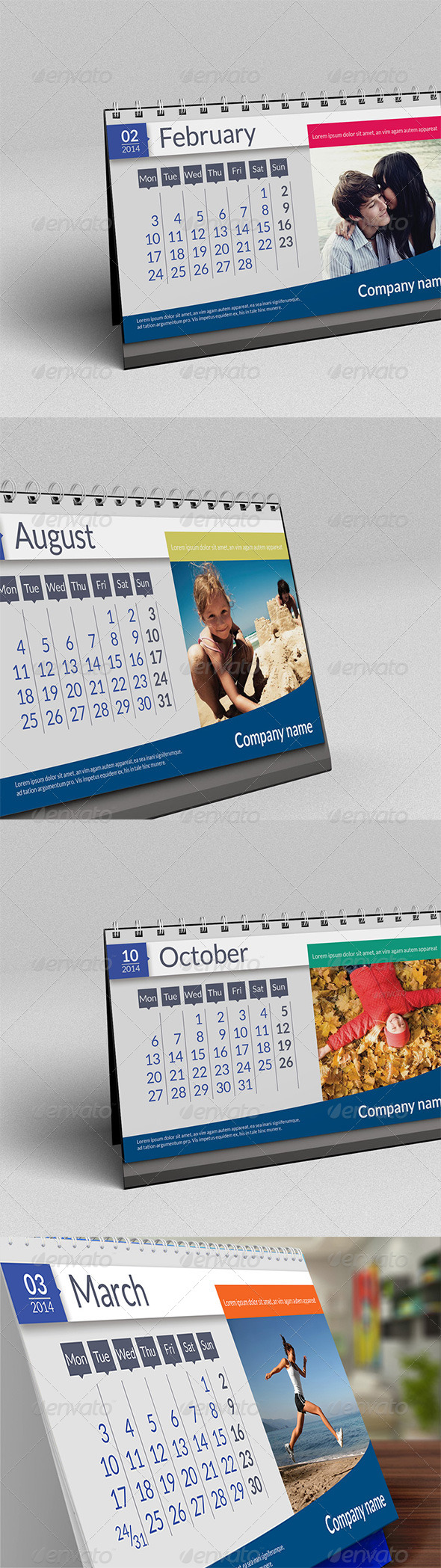GraphicRiver Desk Calendar 2014 6488461