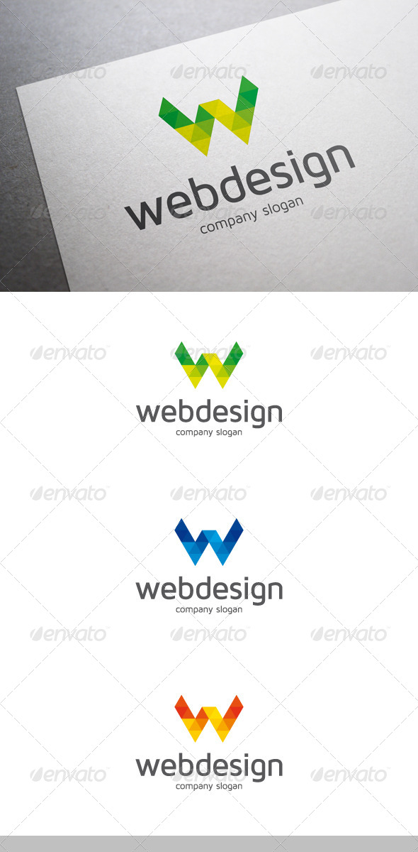 GraphicRiver Web Design W Letter Logo 6488471