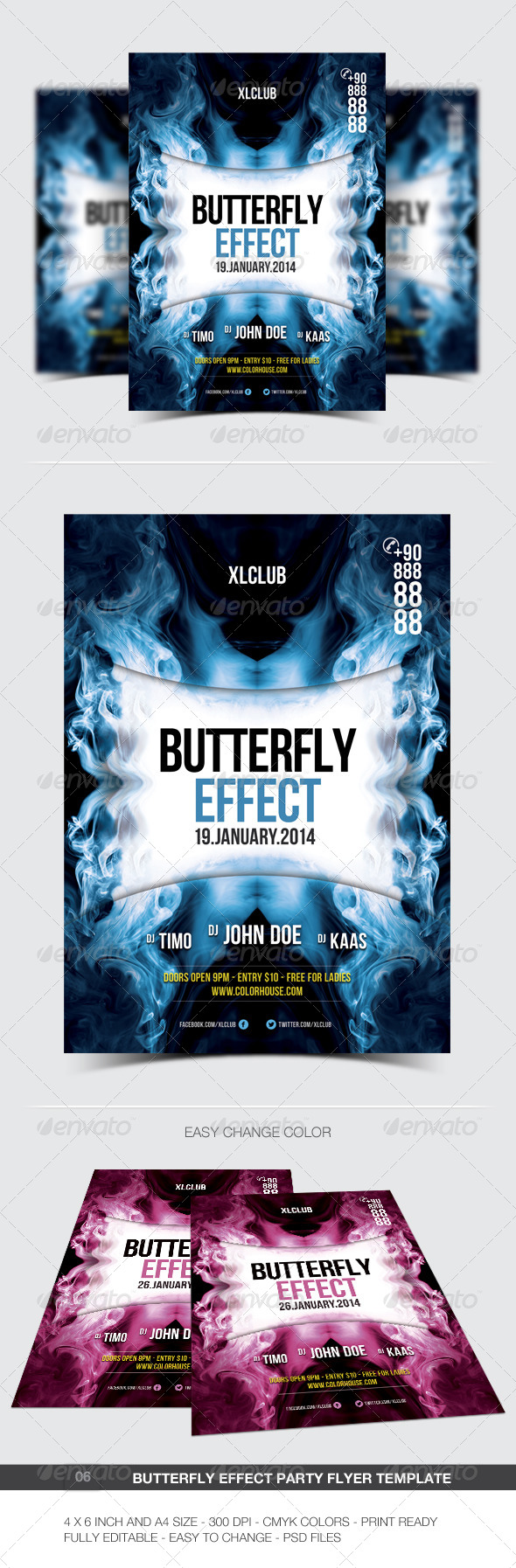 GraphicRiver Butterfly Effect Party Flyer Poster 06 6488516