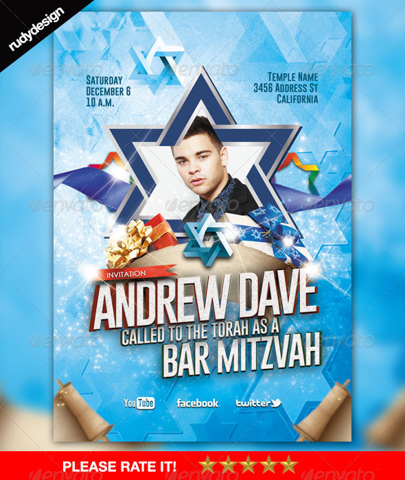 Bar Mitzvah Graphics, Designs & Templates from GraphicRiver