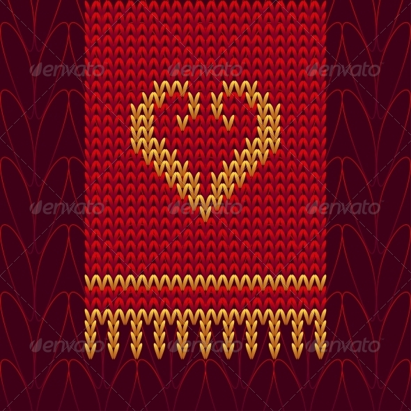 GraphicRiver Color Knitted Wool Heart 6489204