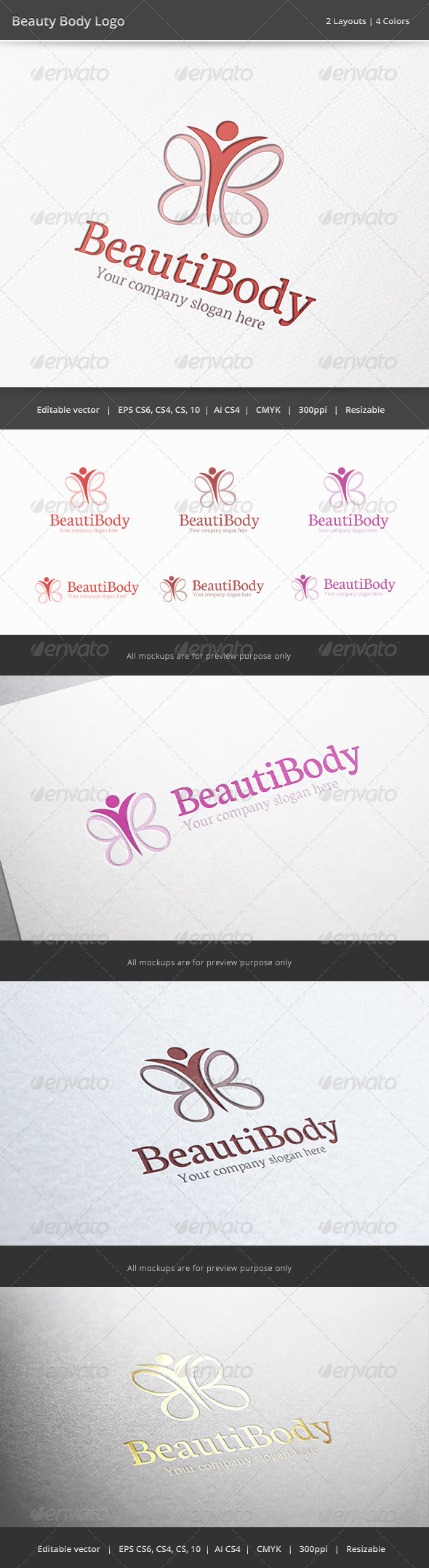 GraphicRiver Beauty Body Logo 6489799