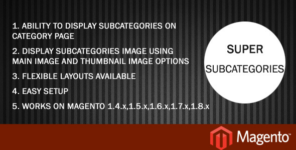 Super Subcategories - CodeCanyon Item for Sale