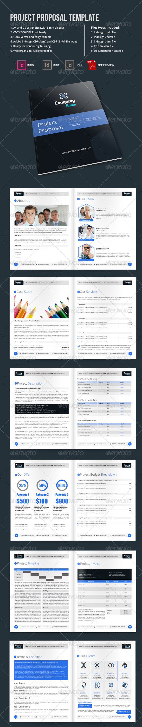 GraphicRiver Project Proposal Template 6489851