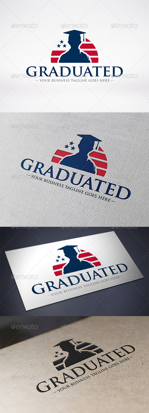 GraphicRiver American Graduation Logo Template 6489854