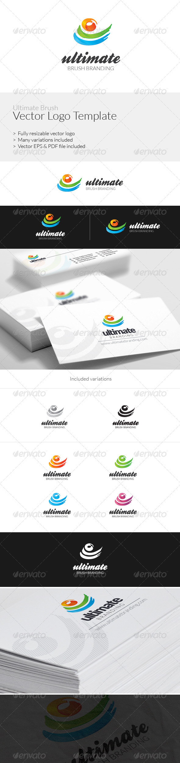 GraphicRiver Ultimate Brush Logo Template 6489910