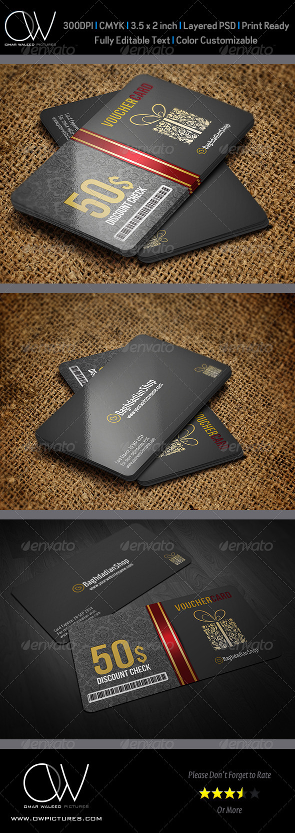 GraphicRiver Gift Voucher Card Vol 9 Template 6489922