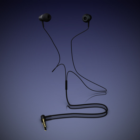 Headphones in-ear - 3DOcean Item for Sale