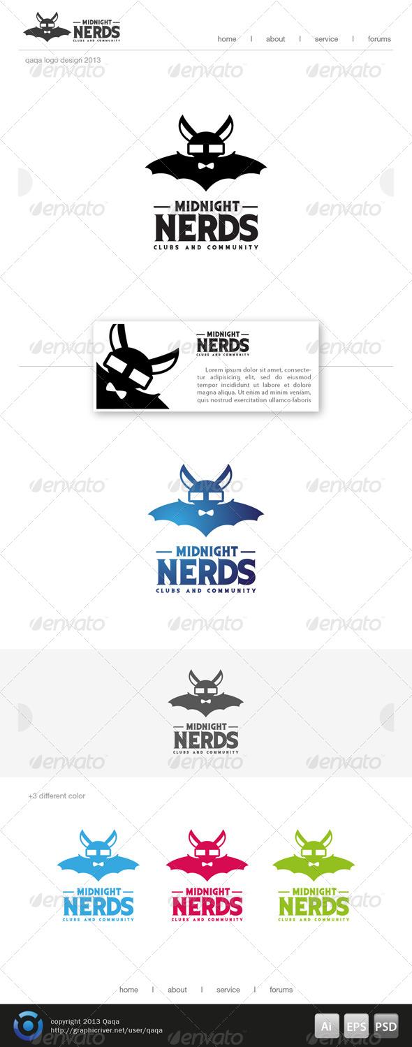 GraphicRiver Midnight Nerds Logo 6490367