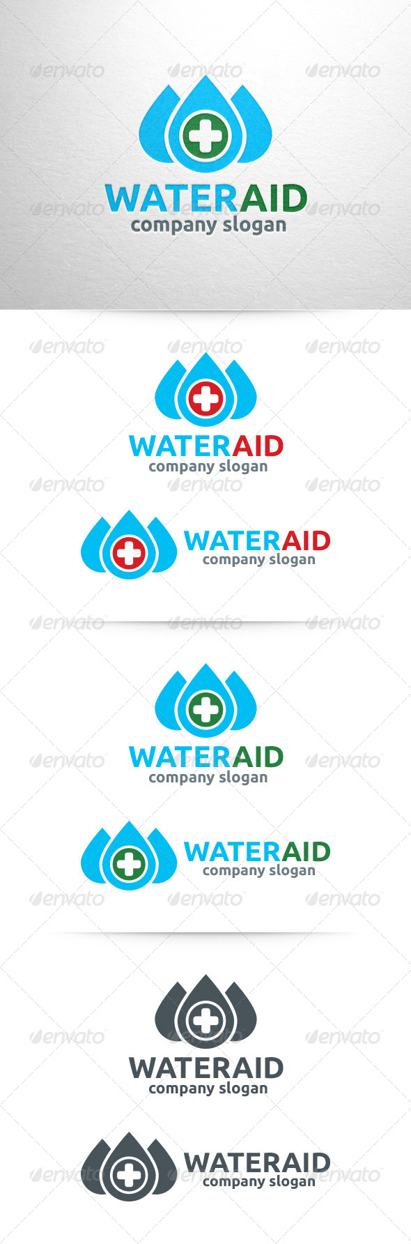 GraphicRiver Water Aid Logo Template 6490372
