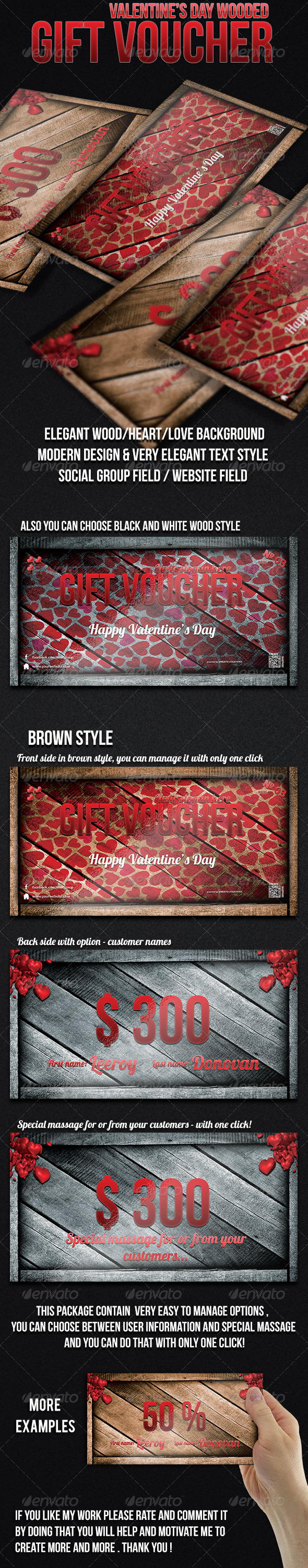 GraphicRiver Valentine s Day Gift Voucher 6490745
