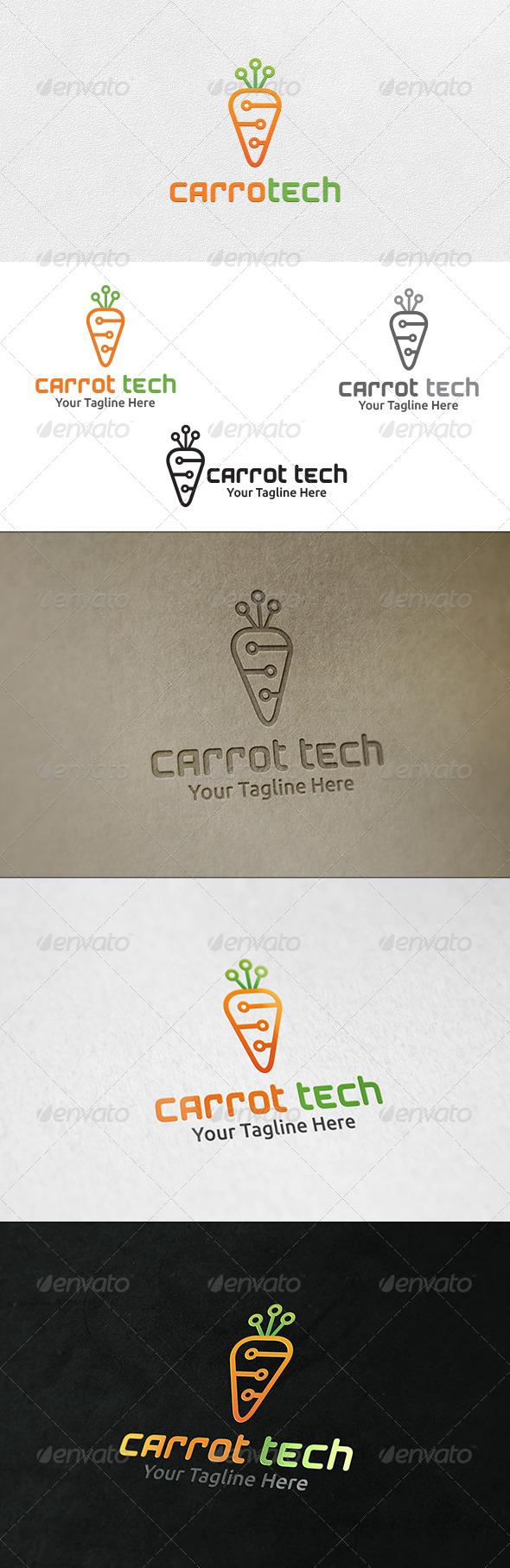 GraphicRiver Carrot Tech Logo Template 6491710
