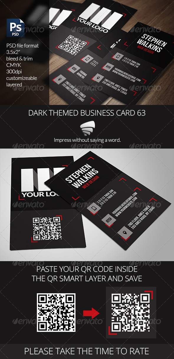 GraphicRiver Dark Themed Business Card 63 6491731