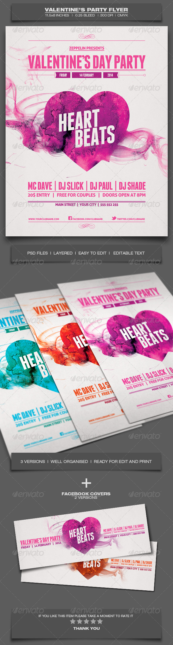 GraphicRiver Valentine s Day Party Event Flyer Template 6491976