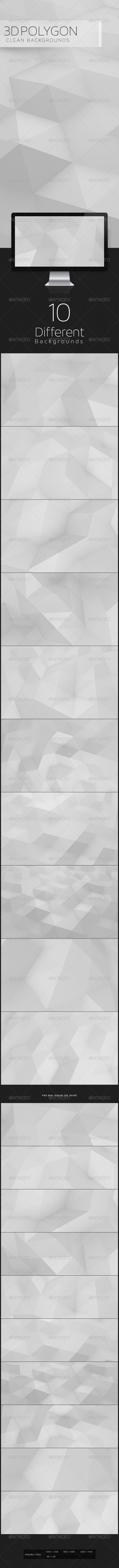 3D Polygon Clean Backgroun