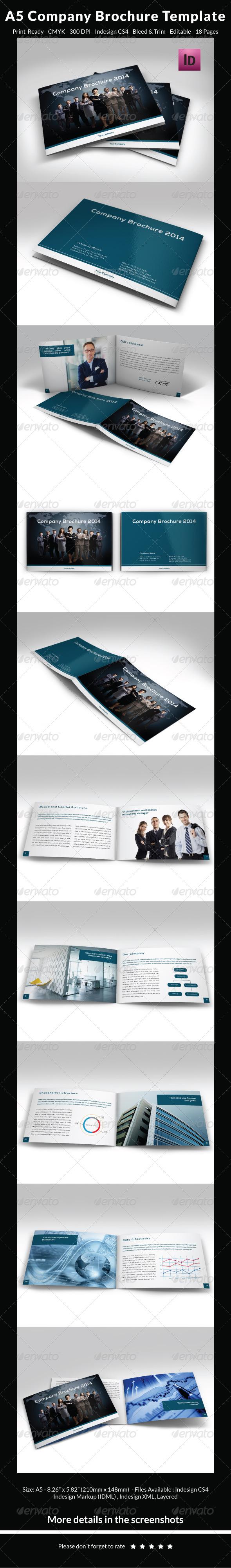 GraphicRiver A5 Company Brochure Template 6466364