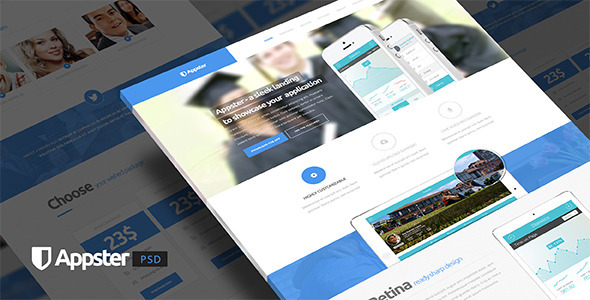Appster - Ultimate App Landing Page PSD - Marketing Corporate