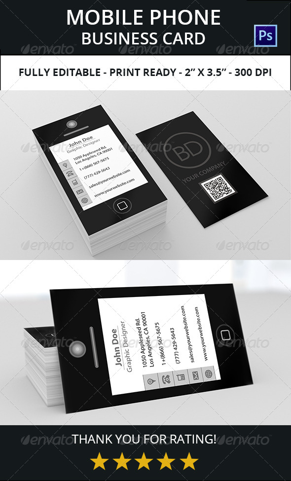 Mobile Phone Business Card 1 by bdent