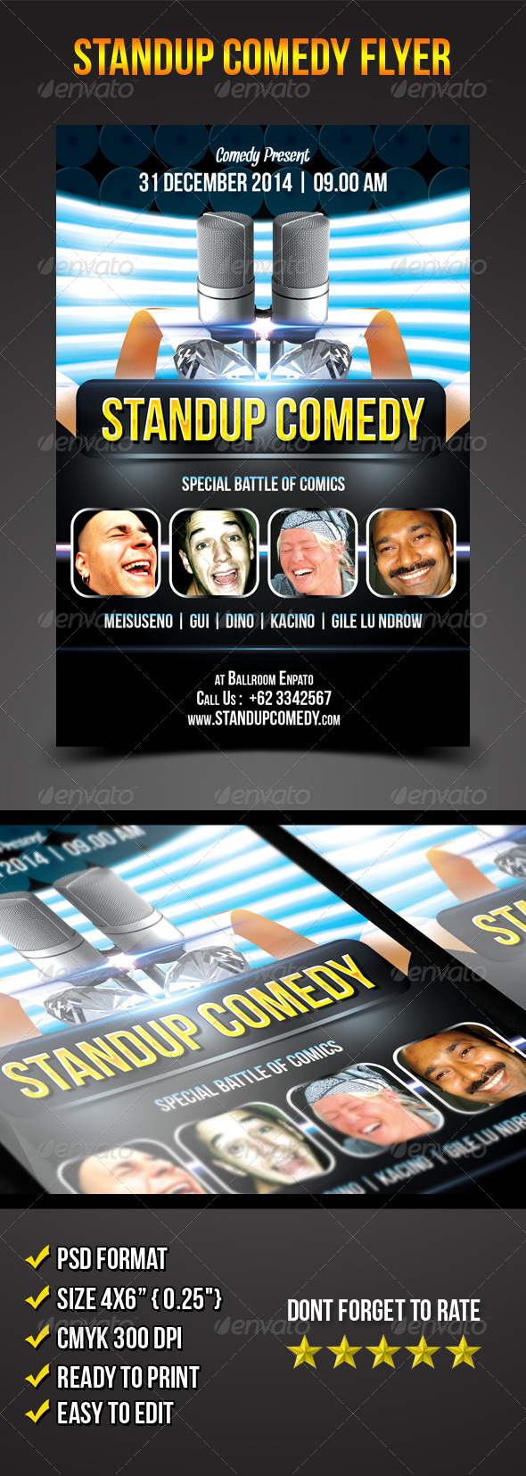 GraphicRiver Stand-Up Comedy Flyer 6476284