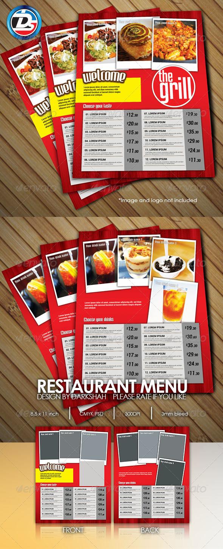 GraphicRiver Restaurant Menu 6452901