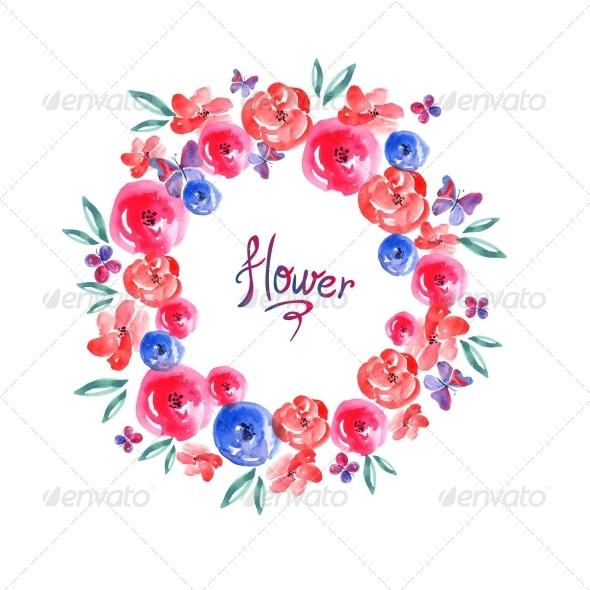 GraphicRiver Floral Frame Invitation Card Vignette 6493443