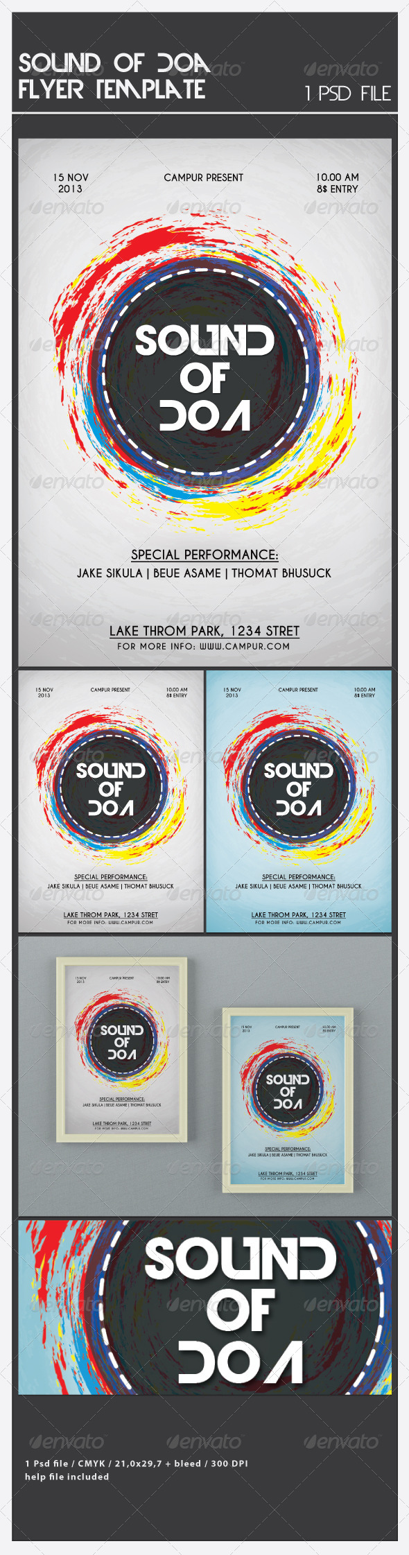 GraphicRiver Sound of Doa Flyer Template 6493567