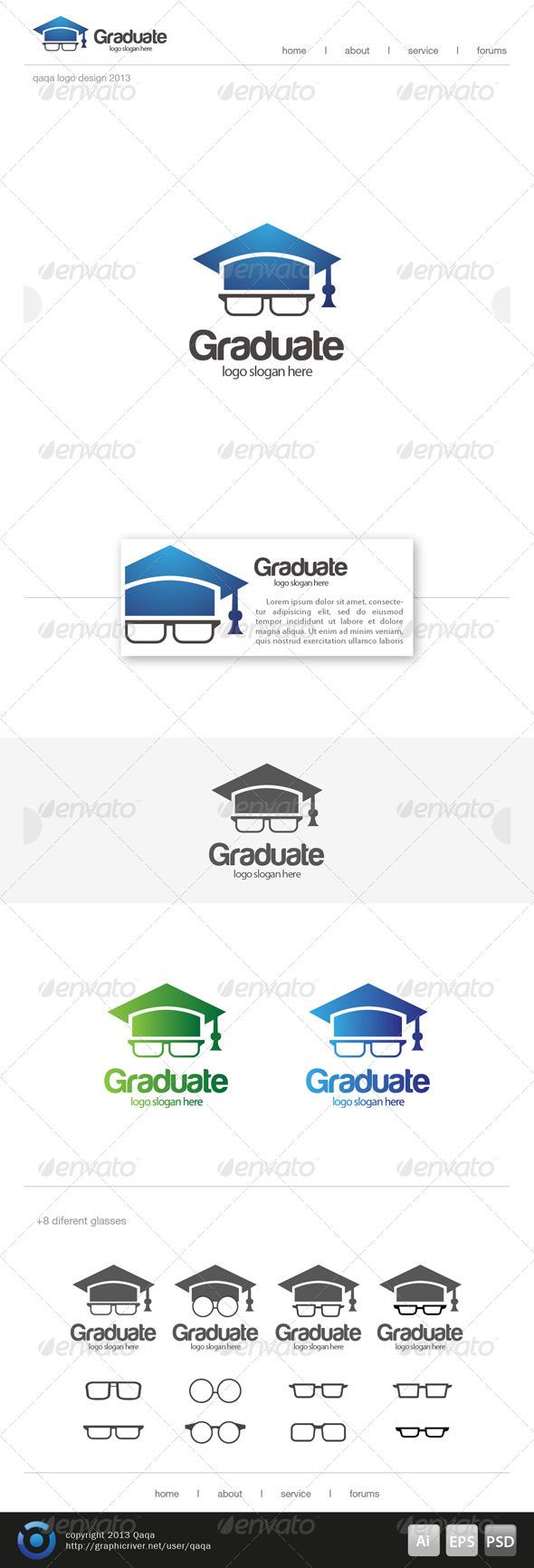 GraphicRiver Geeks Graduate Logo 6493728