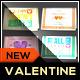 Folded Valentine Love Card - GraphicRiver Item for Sale