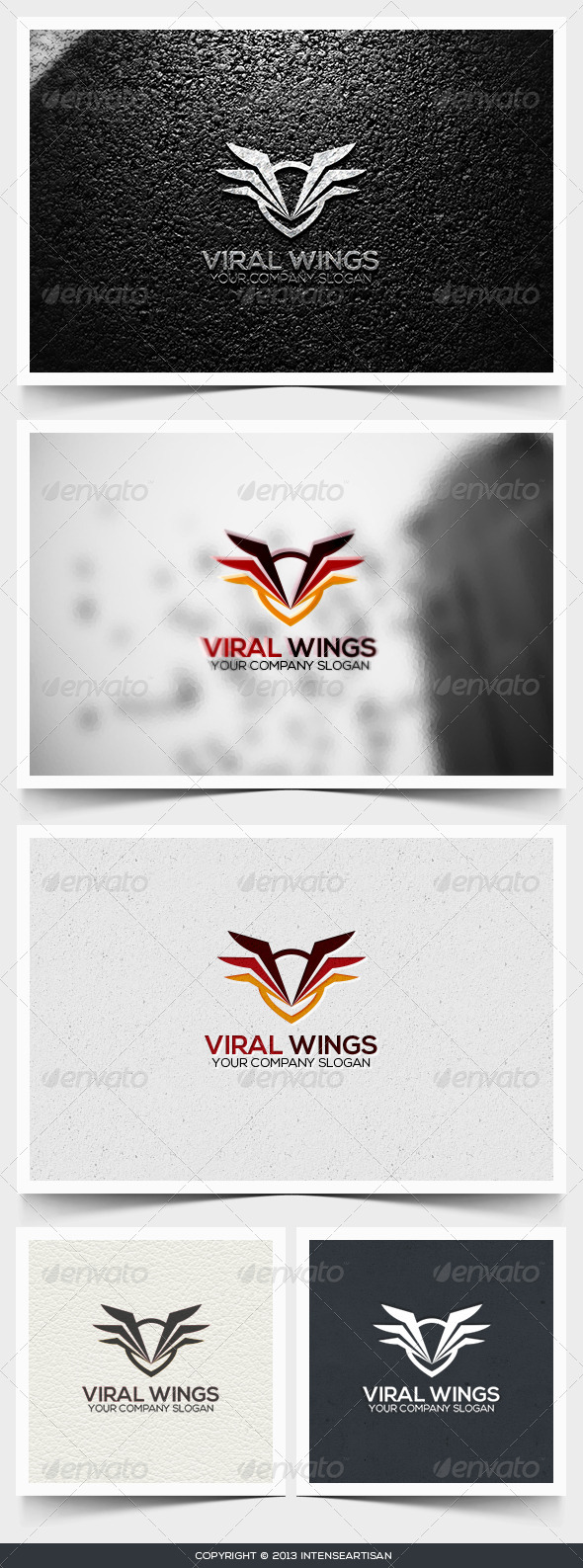 Viral Wings Logo Template