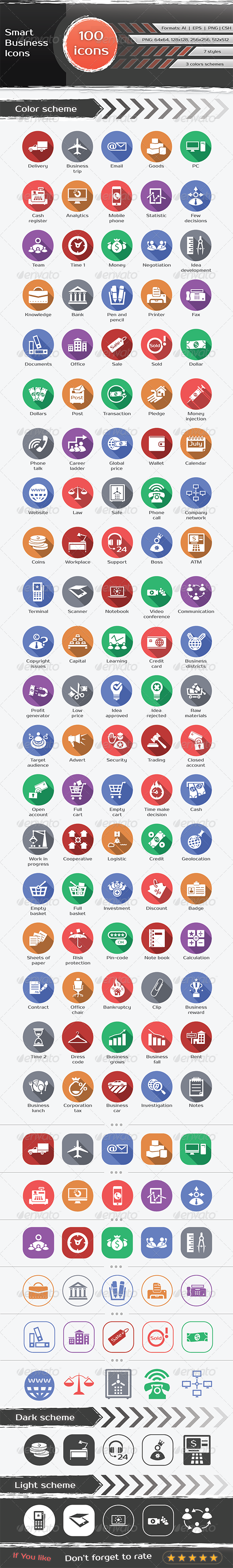 GraphicRiver 100 Business Icons 6494135