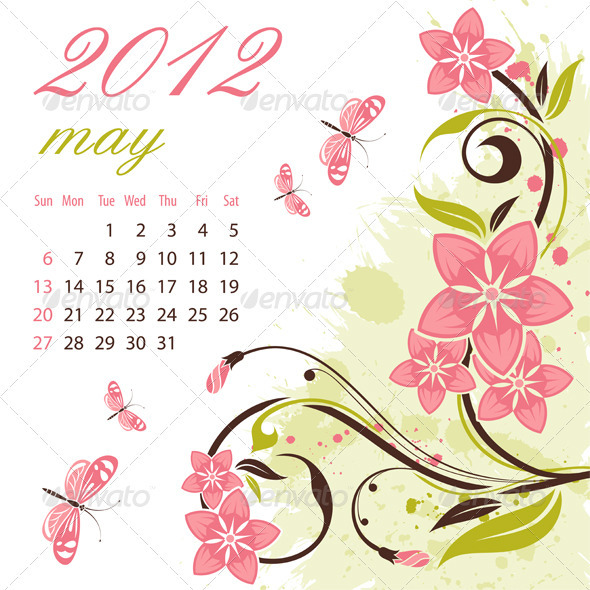 Calendar for 2012 May