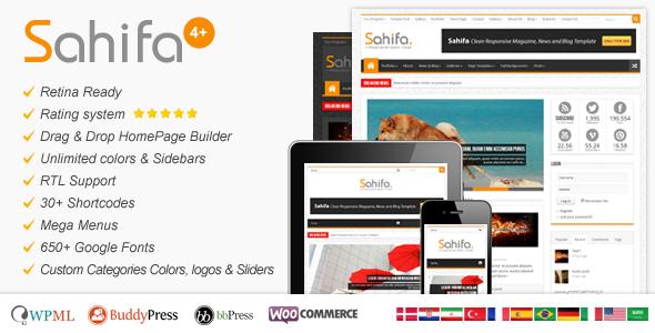 Theme para WordPress Estilo Periódico Sahifa