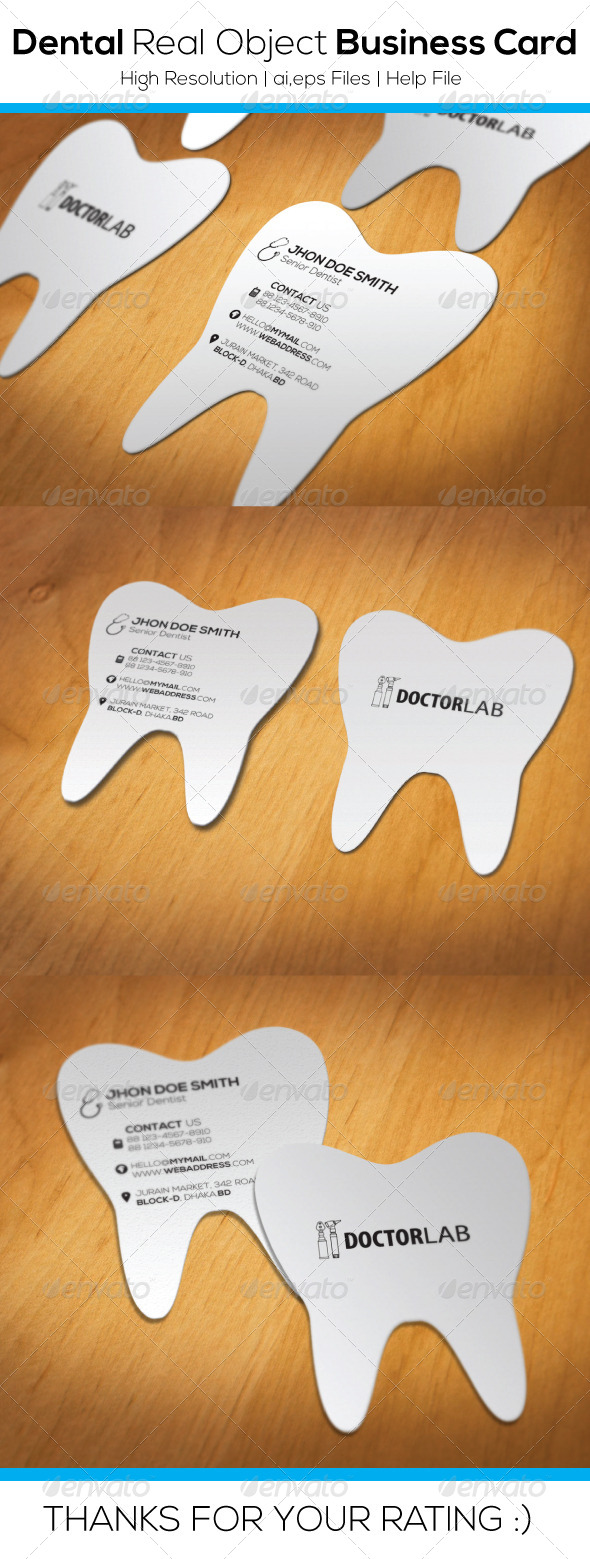 GraphicRiver Dental Real Object Business Card 6476986