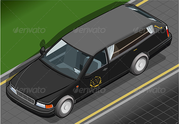 GraphicRiver Isometric Hearse in Front View 6494458