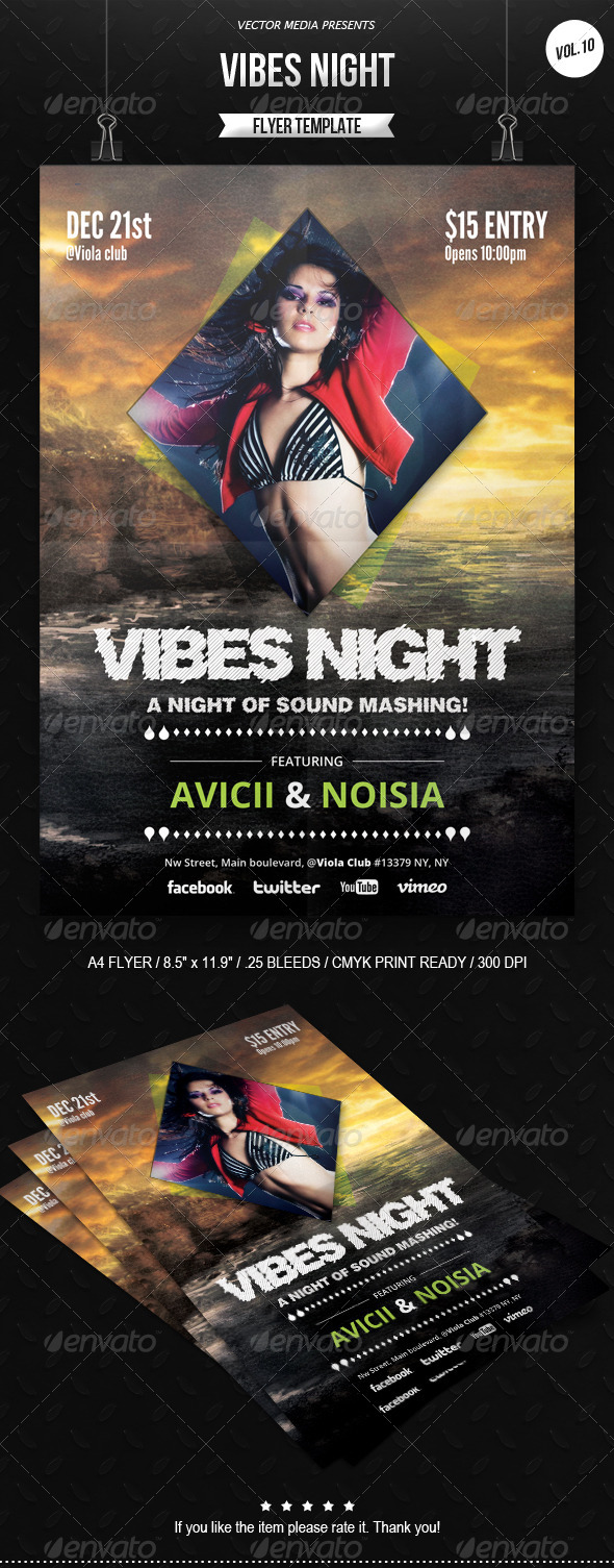 GraphicRiver Vibes Night Flyer [Vol.10] 6481368