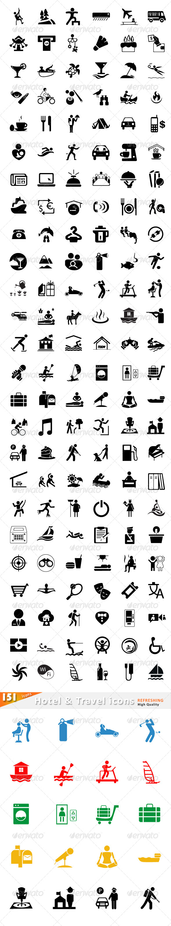 GraphicRiver 76 Travel and Hotel Icons 6429310