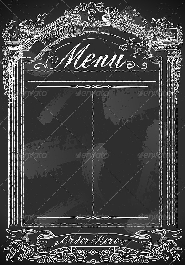 GraphicRiver Vintage Blackboard for Restaurant Menu 6494694