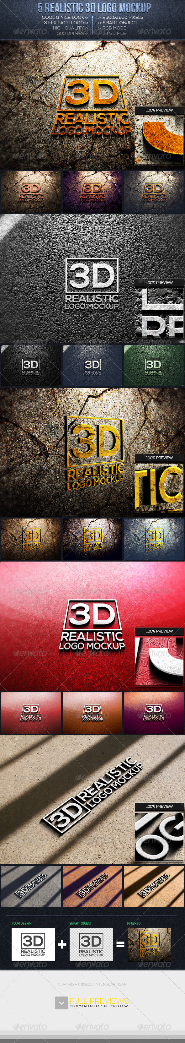 GraphicRiver 3D Logo Mockup Vol.1 6494707