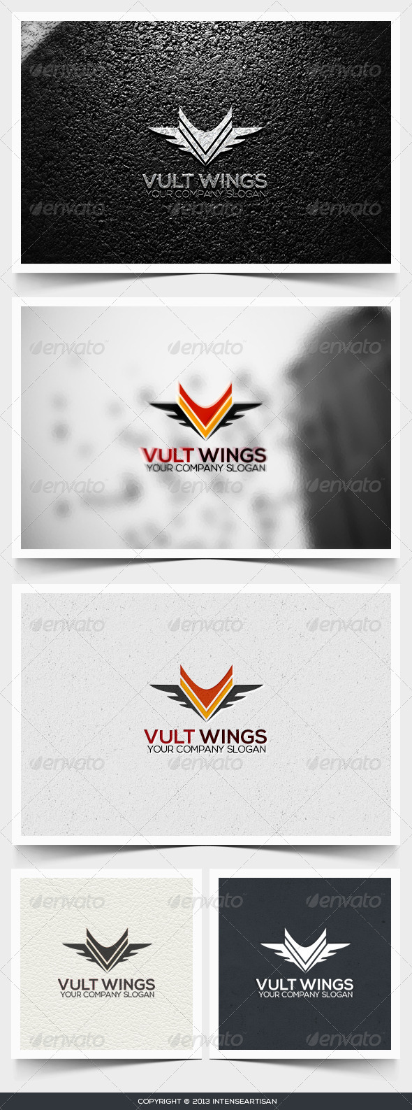 Vult Wings Logo Template - Objects Logo Templates