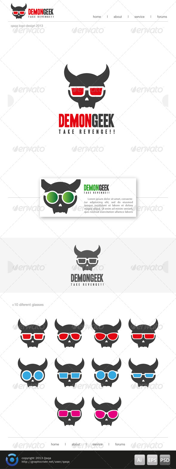 GraphicRiver Demon Geek Logo 6494797