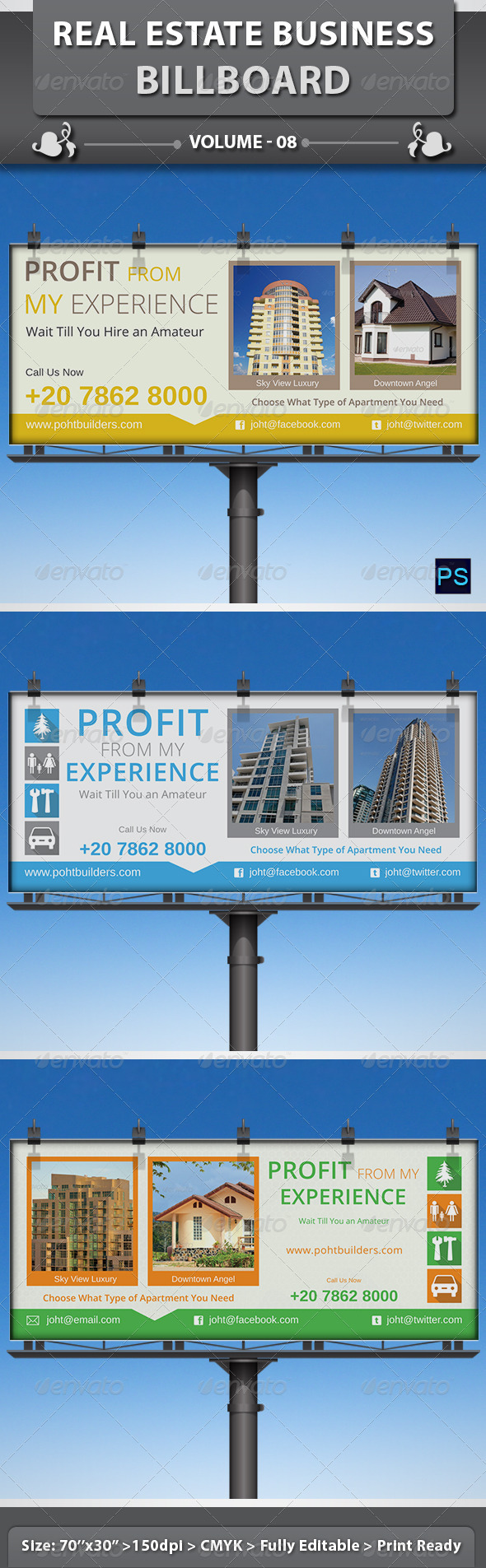 Real Estate Business Billboard | Volume 8 - Signage Print Templates