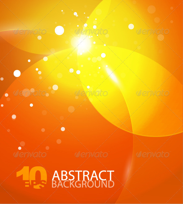 Abstract vector orange sky background