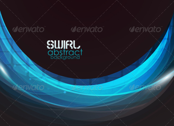 GraphicRiver Blue wave vector abstract background 679321