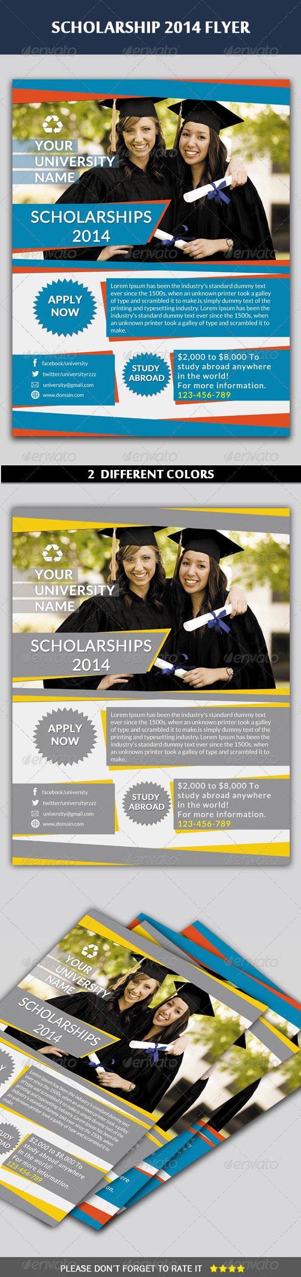 GraphicRiver Scholarship Flyer 6495039