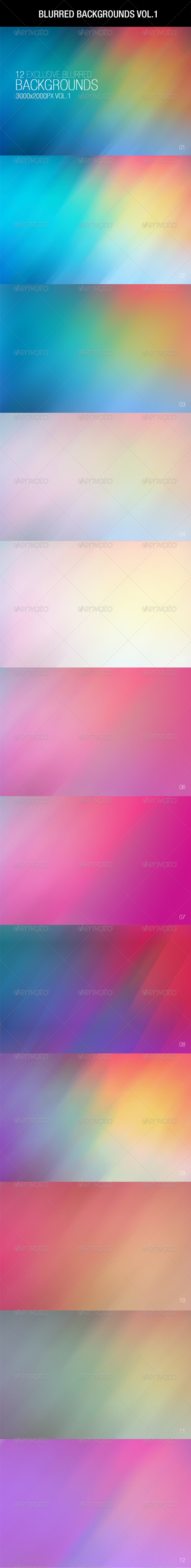 GraphicRiver 12 Blurred Backgrounds Vol.1 6495087
