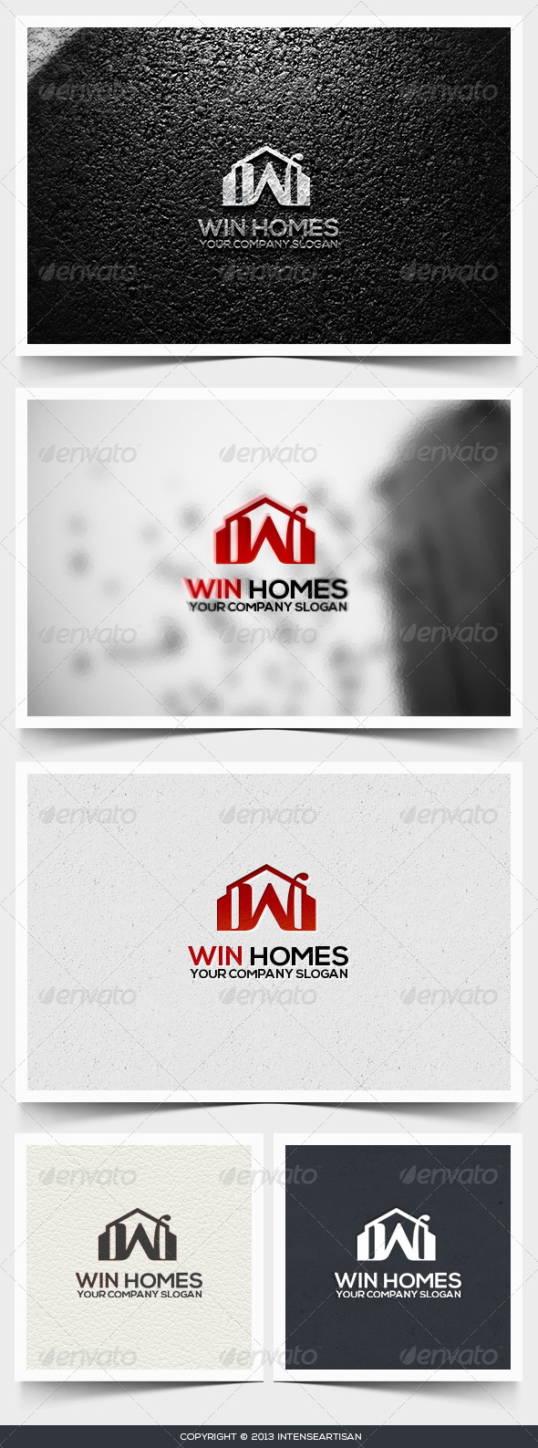 Win Homes Logo Template - Buildings Logo Templates