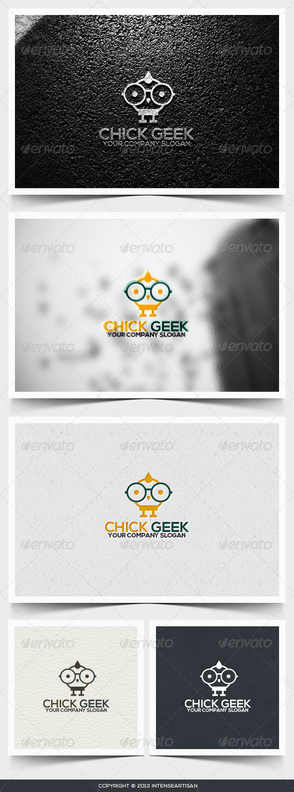 GraphicRiver Chick Geek Logo Template 6495160