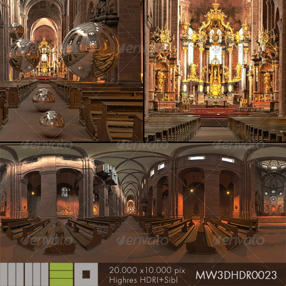 MW3DHDR0023 Dom St. Peter Worms Germany - 3DOcean Item for Sale
