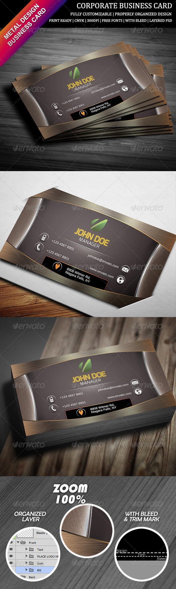 GraphicRiver Corporate Business Card 10 6495229