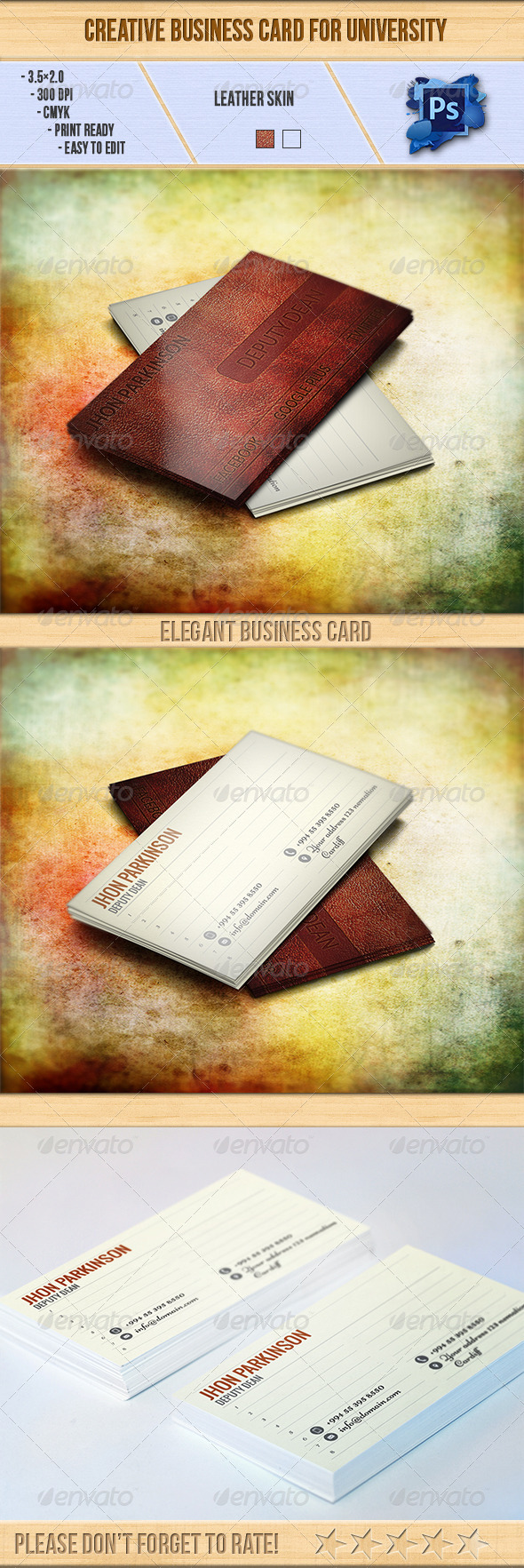 GraphicRiver Creative Business Card for University 6495425